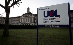 University of East London-Barking Campus, where a student was killed. Picture GLENN COPUS